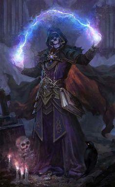 undead skeleton mage spark bolt thunder