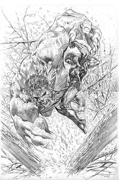 #Hulk #Fan #Art. (Hulk vs Wolverine) By: Ardian Syaf. (THE * 5 * STÅR * ÅWARD * OF: * AW YEAH, IT'S MAJOR ÅWESOMENESS!!!™)[THANK Ü 4 PINNING!!!<·><]<©>ÅÅÅ+(OB4E)