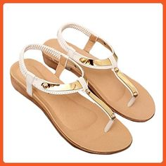 8315aa4b4 RoseSummer Fashion Women Strappy OpenToe Flip Flops Flat Shoes Sandals (40