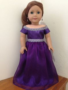 Purple Gown with silver trim reserved for Erin by BuzzinBea on Etsy
