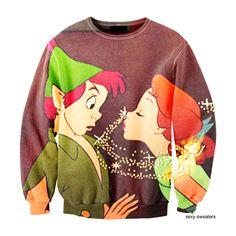 Peter Pan and Wendy Sweatshirt. Peter Pan is my favorite Disney movie! Disney Outfits, Cute Outfits, Disney Clothes, Peter Pan Shirt, Disney Sweaters, Disney Shirts, Disney Sweatshirts, Hoodies, Vogue