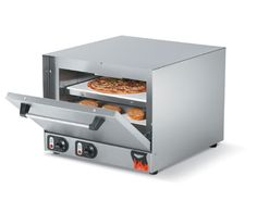 """Vollrath Pizza/Bake Oven electric - 40848    Pizza/Bake Oven, electric, stainless steel exterior & interior, supplied with two ceramic bake decks, 15-minute timer function, shelf size 17-1/2"""", 2-1/2"""" between shelves, heat setting 140°F-750°F, 220v/60/1-ph, 12 amps, 2800W, NEMA 6-15P, OA dimension 25-3/4""""Lx23-1/8""""Wx18-7/8""""H, cooking chamber size 19-3/16""""Lx18-1/2""""Wx9-7/16""""H, model# POA8002, NSF, Imported"""