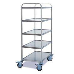 GTARDO.DE:  Tischwagen 5 Etagen, Tragkraft 120 kg, Ladefläche 800x500 mm, Maße 900x600 mm 491,00 €