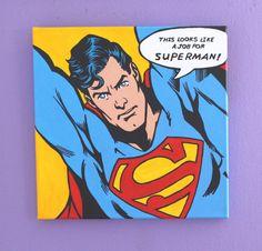 Superman Pop Art Painting