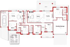 Discover our entire range of Dual Occupancy House Plans designed for the Perth metro area . From Single storey studio's to custom granny flats attached to the main home. We offer Double Storey and house behind house special purpose duplex style designs. Free House Plans, House Layout Plans, Floor Plan Layout, Modern House Plans, House Layouts, Granny Flat Plans, House Plans Australia, Circle House, 5 Bedroom House Plans