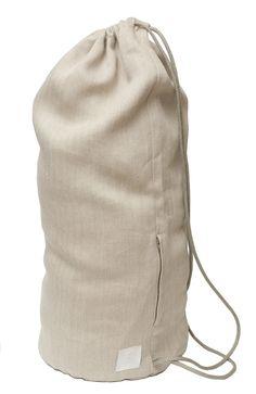 saana ja olli - matkaaja - hemp sailor bag l Hemp Fabric, Large Bags, Drawstring Backpack, Sailor, Packaging, Design, Wrapping, Nautical