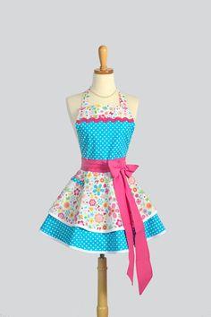 Etsy listing at https://www.etsy.com/listing/161891016/ruffled-retro-apron-cute-sassy-womens