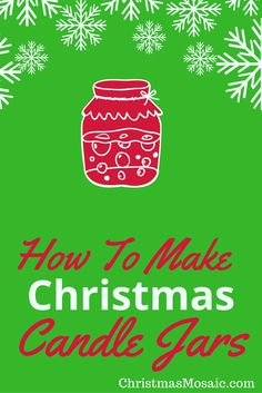 When I did the last post, there was a glimpse of some lighted jars at the end. I went to that tutorial and I really liked the project. Here is how to make Christmas candle jars. Christmas Mosaics, Christmas Candles, Christmas Crafts, Christmas Decorations, Mason Jar Crafts, Mason Jars, Best Perfume, Candle Jars, How To Make
