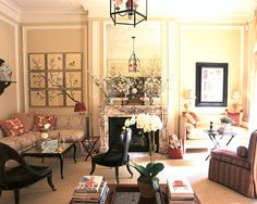 """Alessandra Branca--Mantels should be seen as a piece of furniture, similar to a console, says Chicago designer Alessandra Branca. """"Once you stop thinking of it as a part of the architecture, then you can think of it as a focal point,"""" she says. """"Changing up a mantel can change up your entire room.""""    In her New York apartment, she uses the mantel to present changing displays of flowers. """"You should use it as an opportunity to assemble the things you love,"""" she says."""