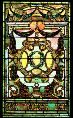 Tiffany ~ The Whitney Restaurant Stained Glass Window