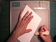 How to make a half window card in the Cuttlebug - YouTube