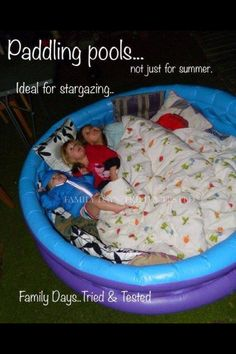 Inflatable pool for camping out