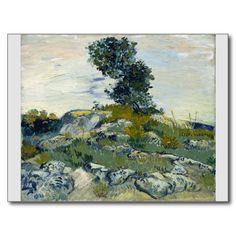 The Rocks by Vincent Van Gogh Postcard