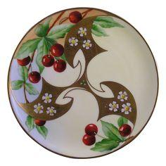 Haviland Limoges White's Art Company Chicago Cherry Motif Plate (c.1914-1923)