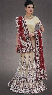 Luscious Bige Brown Lehenga Choli