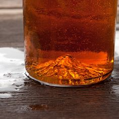 Discover Mount Hood at the bottom of your empty beer glass.