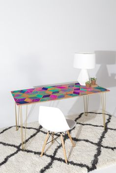 Elisabeth Fredriksson Pretty Cubes Desk | DENY Designs Home Accessories