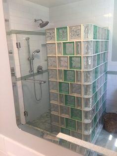 Glass Blocks Bathroom Designs Best Of Glass Block Showers Glass Block Shower Kits Small Bathroom With Shower, Walk In Shower, Modern Bathroom, Glass Blocks Wall, Glass Block Windows, Brick Bathroom, Glass Bathroom, Glass Block Shower, Bathroom Dimensions