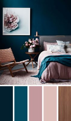 """Hướng dẫn 12 cách phối màu trang trí phòng ngủ đẹp """"mê mệt"""""""