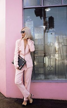 How to Wear a Pink Suit Like a Hipster