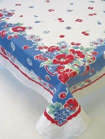 vintage cherry tablecloth---reminds me of my mother. we had one of these all of my childhood.