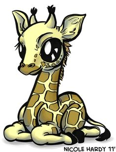 Cute Baby Giraffe Cartoon | Here is a baby giraffe as part of the animal sketches. The next ...