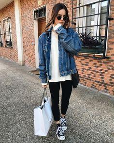 "Eider Paskual on Instagram: ""Gudnait  #ootd""   Street Fashion"