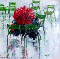 Chantal  Urquiza - papotage sous un parapluie