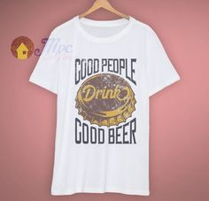 f33a3f00da2 Faded Vintage Style Good People Good Beer T Shirt. mpcteehouse.com