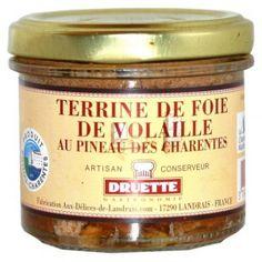 Terrine de foie de volaille au pineau 90 gr - parfumé pineau - 2.15€