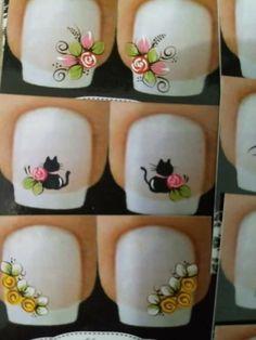 Manicure Y Pedicure, Nail Designs, Nail Art, Tattoos, Nails, Hair Styles, Nail Stickers, Pink Yellow, Light Nails