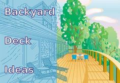 Backyard deck ideas and How to