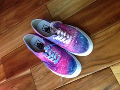 Galaxy shoes - sparkly pink and blue. $69.99, via Etsy.