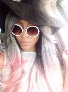 Gah! This hair is too pretty. Silver ombre