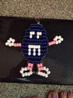 Blue m&m pony bead design by me