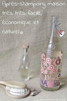 Après-shampoing maison super facile, économique, naturel pour des cheveux brillants et sans noeuds