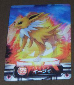 Japanese-Pokemon-Bandai-2005-3D-Evo-Card-Eevee-Jolteon-Flareon-w-Bonus-MINT