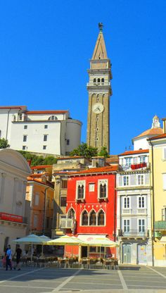 View of St. George's Parish Church, Piran: http://bbqboy.net/piran-slovenias-coastal-jewel/ #piran #slovenia