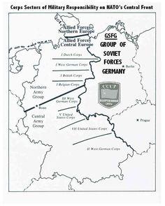 NATO Defense Zones of West Germany