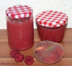 Weinbergpfirsich-Himbeere-Marmelade Rezept