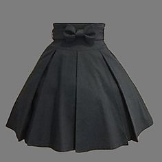 Knee-length Black Cotton Western Style Classic Steampunk Skirt or Lolita Skirt $55.99 #steampunk