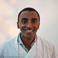 """Chef Marcus Samuelsson of Red Rooster Harlem In New York. He eats at Queen of Sheba for authentic Ethiopian food. """"I love to order the kitfo."""""""