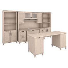 Kathy Ireland Office by Bush Volcano Dusk 5 Piece Desk Office Suite Finish: Driftwood Dreams