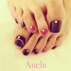 Más de 40 fotos de uñas decoradas para Pies –  Foot nails | Decoración de Uñas - Nail Art - Uñas decoradas - Part 3