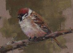 "Tree Sparrow by Mike Beeman Pastel ~ 5"" x 7"""