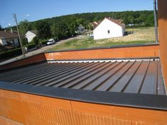 Photo charpente et couverture en bac acier sur la partie - Toiture terrasse bac acier ...
