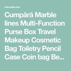 Buy Marble lines Multi-Function Purse Box Travel Makeup Cosmetic Bag Toiletry Pencil Case Coin bag Beauty Make Up Tools at Cute - Beauty Shopping Cute Beauty, Beauty Make Up, Makeup Storage, Bag Storage, Makeup Tools, Makeup Brushes, Desktop Storage, Bag Packaging, Coin Bag