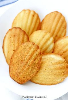 Browned Butter and Coconut Madeleines
