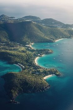 Tortola, British Virgin Islands ~ I remember this view as I flew over the island in a 6-seater 'puddle-jumper' the day I arrived!!  ♥