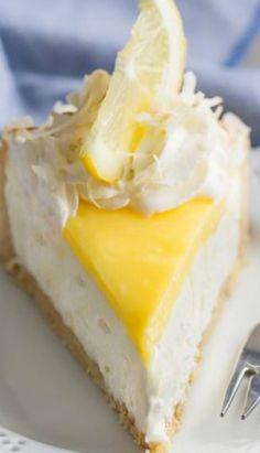 No-Bake Lemon Macaroon Cheesecake